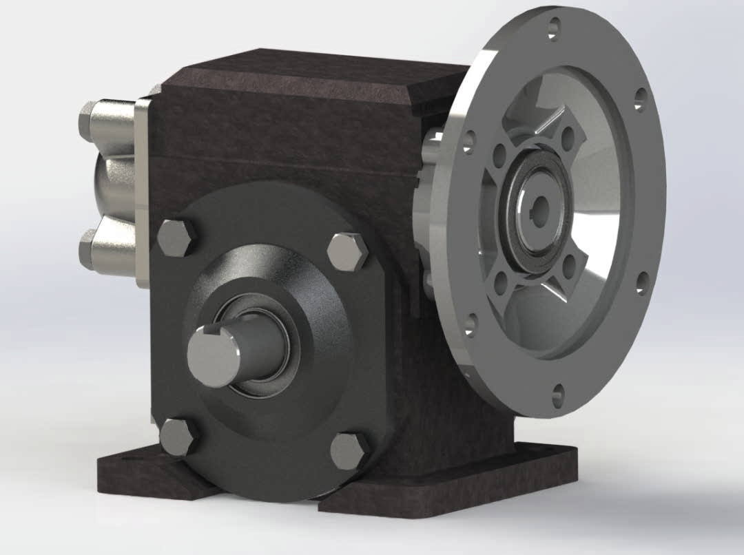 cad conversion of reducer gear assembly 2